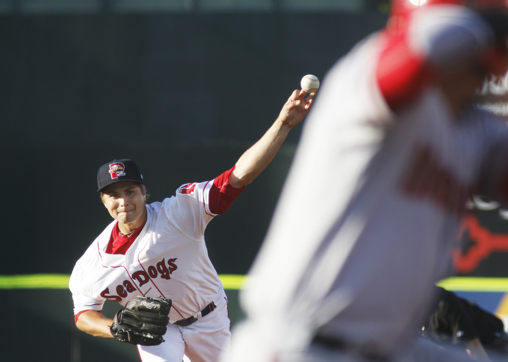 Portland pitcher Jalen Beeks hopes to earn a call-up to the Red Sox.
