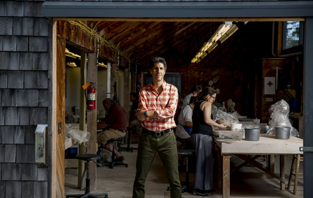 Paul Sacaridiz in the ceramics studio.