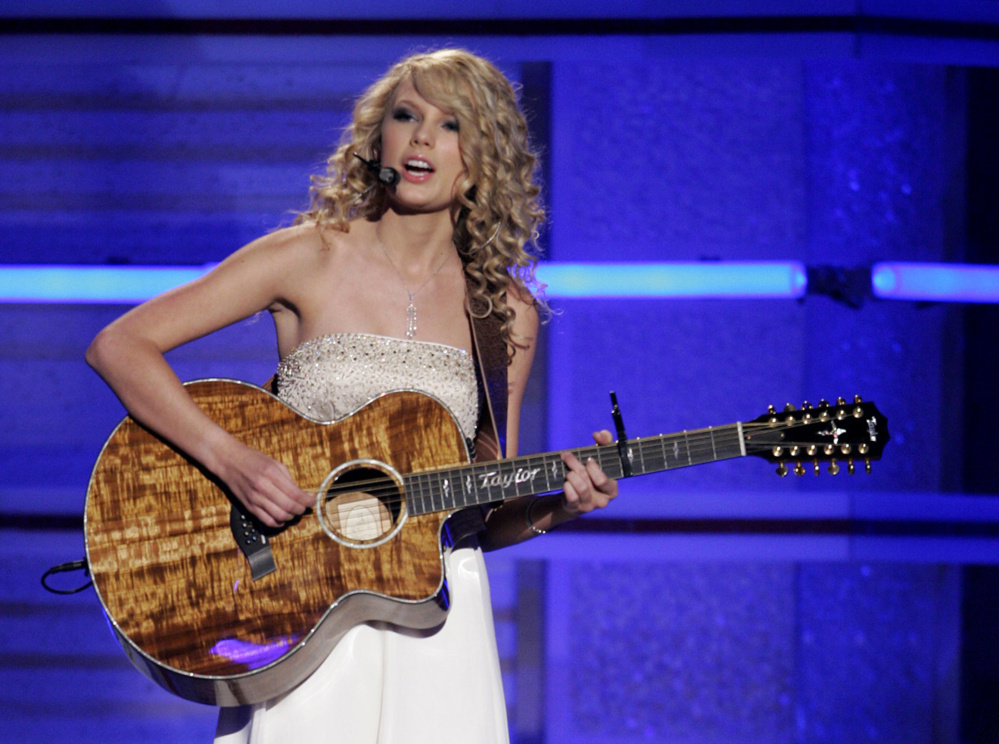 Taylor Swift as an up-and-coming singer-songwriter in 2007.
