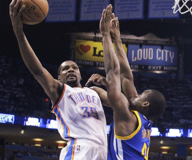 Kevin Durant, a four-time NBA scoring champion and a former MVP with the Oklahoma City Thunder, will be the prime target for many teams – including the Celtics – when free agency begins July 1.