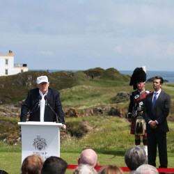 """Donald Trump, in Scotland on Friday after the United Kingdom voted to leave the European Union, saluted the decision, saying the nation's citizens """"took back their country."""""""