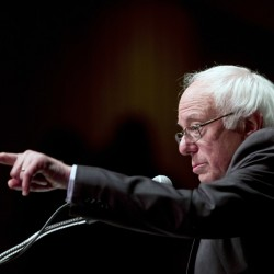 "Democratic presidential candidate Bernie Sanders delivers his ""Where We Go From Here"" speech Friday in Albany, N.Y. Sanders hasn't yet endorsed Hillary Clinton."
