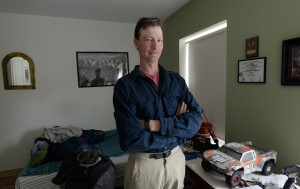 """Peter Snow lives in Thomas Heights, at 134 Washington Ave. in Portland. The former lobsterman works part time at Pizza Hut and receives Social Security for a disability. """"It's nice. I like it a lot,"""" Snow said of his new home. """"I've been pretty lucky."""""""