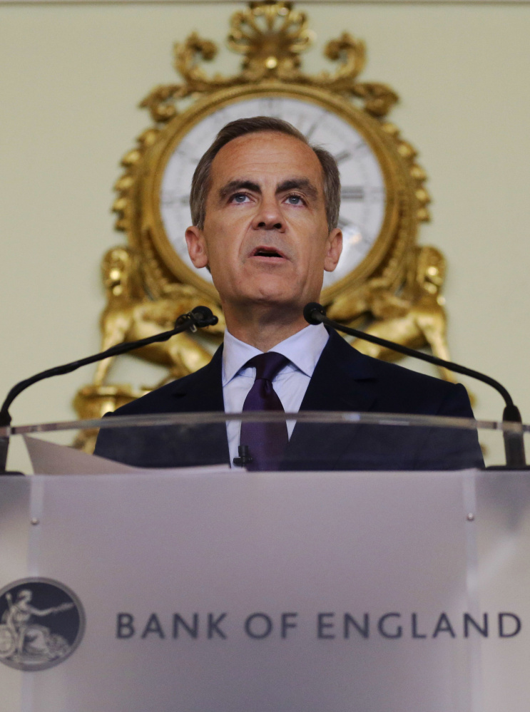 Mark Carney, governor of the Bank of England , says some monetary policy easing may be necessary to avert a crisis.