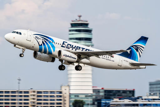 An EgyptAir Airbus A320 with the registration SU-GCC takes off from Vienna International Airport, Austria. Egypt's Civil Aviation Ministry said Wednesday that a French ship has picked up signals from deep under Mediterranean Sea, presumed to be from black boxes of the EgyptAir Airbus A320 with the registration SU-GCC that crashed last month, killing all 66 passengers and crew on board. The Associated Press