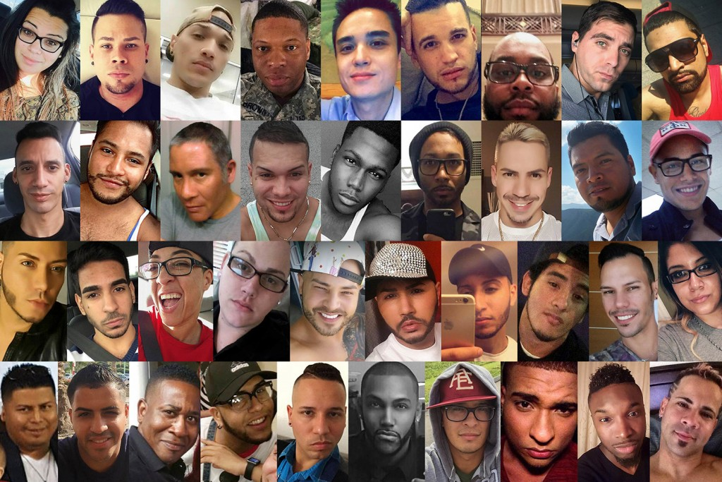This combination of photos shows some of the dozens of those killed in a mass shooting early Sunday at the Pulse gay nightclub in Orlando, Fla. Top row from left are: Amanda Alvear, Angel L. Candelario-Padro, Anthony Luis Laureano Disla, Antonio Davon Brown, Christopher Leinonen, Christopher Joseph Sanfeliz, Darryl Roman Burt II, Edward Sotomayor Jr. and Enrique L. Rios, Jr. Second row from left are: Eric Ivan Ortiz-Rivera, Frank Hernandez, Franky Jimmy Dejesus Velazquez, Gilberto Ramon Silva Menendez, Jason Benjamin Josaphat, Javier Jorge-Reyes, Jean Carlos Mendez Perez, Joel Rayon Paniagua and Jonathan Antonio Camuy Vega. Third row from left are: Juan P. Rivera Velazquez, Juan Ramon Guerrero, Kimberly Morris, Leroy Valentin Fernandez, Luis D. Conde, Luis Daniel Wilson-Leon, Luis Omar Ocasio-Capo, Luis S. Vielma, Martin Benitez Torres and Mercedez Marisol Flores. Bottom row from left are: Miguel Angel Honorato, Oscar A Aracena-Montero, Paul Terrell Henry, Peter O. Gonzalez-Cruz, Rodolfo Ayala-Ayala, Shane Evan Tomlinson, Simon Adrian Carrillo Fernandez, Stanley Almodovar III, Tevin Eugene Crosby and Xavier Emmanuel Serrano Rosado.