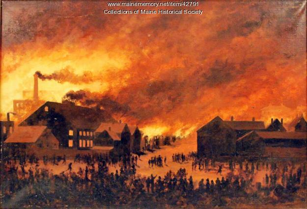 The Great Portland Fire Of July 4th 1866