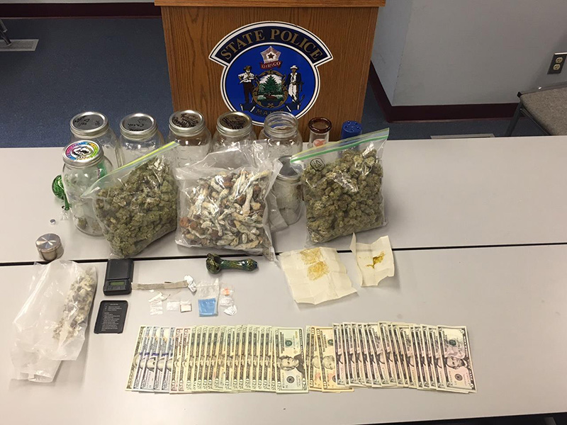 Police exhibit of drugs found in the car of Kathryn Lapierre during a traffic stop.