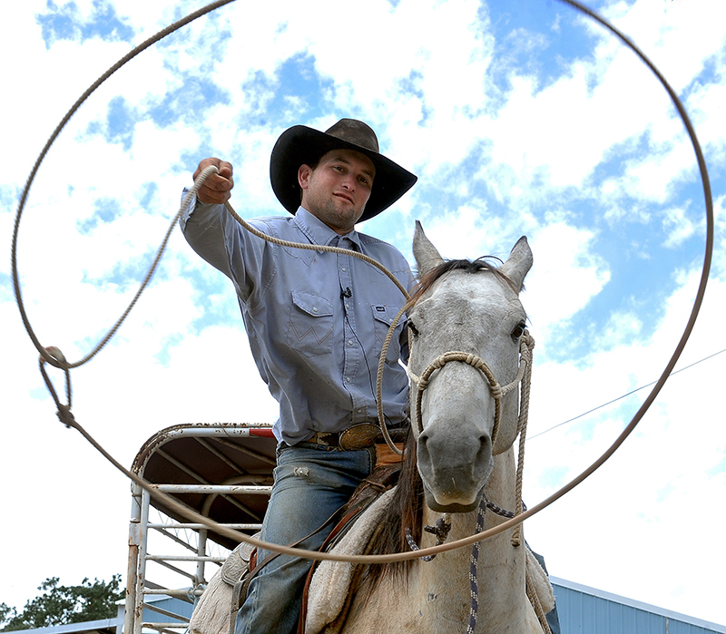 Oregon rancher Robert Borba and his horse Long John