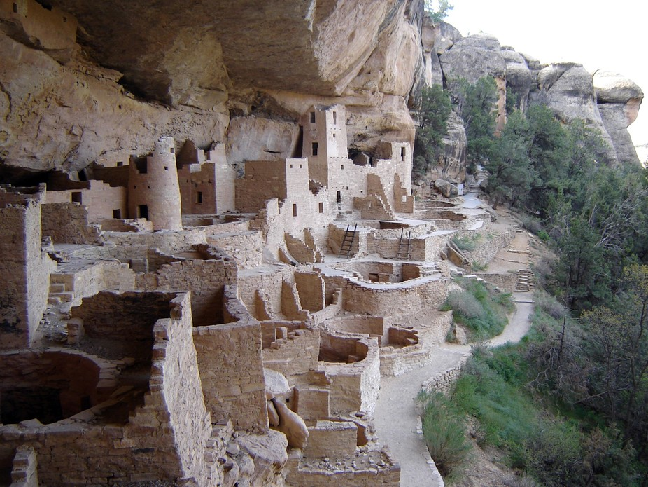 Cliff Palace at Mesa Verde National Park, Colorado, built by Anasazi c. 1200. The Antiquities Act was passed to protect such sites from looters. Photo courtesy of National Park Service