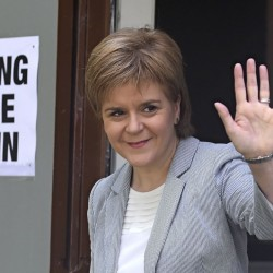 "Scotland's First Minister Nicola Sturgeon leaves after voting in the EU referendum, at Broomhouse Community Hall in Glasgow, Scotland on Thursday. Sturgeon said in a statement early Friday that her country ""delivered a strong, unequivocal vote to remain in the EU."" Reuters"