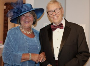 Members Sheila Clark-Edmands and Peter Edmands of Kennebunk. Many attendees of the bash dressed as if they were back in the days when the museum first opened in 1936.
