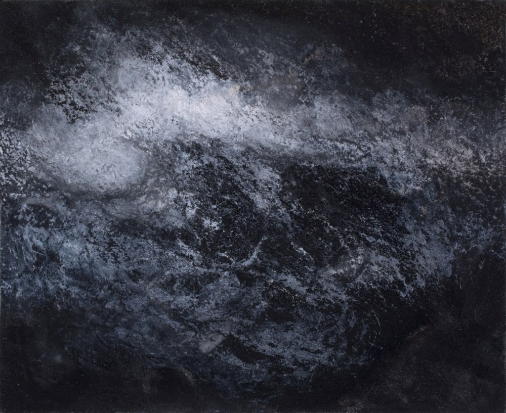 """""""Turbulence 1"""" Ink, charcoal and chalk on paper"""