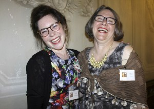 Victoria Mansion employees Torie Levesque and Mary Jacobs enjoying Opera at the Mansion.