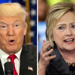 Both U.S. presidential candidates, Donald Trump and Hillary Clinton, have pledged to institute policy changes that would help combat ever-widening income inequality. This photo combo of file images shows U.S. presidential candidates Donald Trump, left, and Hillary Clinton. Income inequality has been a rallying cry of the 2016 election, with more Americans turning fearful and angry about a shrinking middle class. Trump has pledged to restore prosperity by ripping up trade deals and using tariffs to return manufacturing jobs from overseas. Clinton has backed a debt-free college option and higher minimum wages to help the middle class. (AP Photo/Mary Altaffer, Chuck Burton)