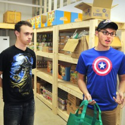 Kaleb Brann, left, and Jacob McKechnie say a program run by the Augusta Boys & Girls Club can help feed struggling families.