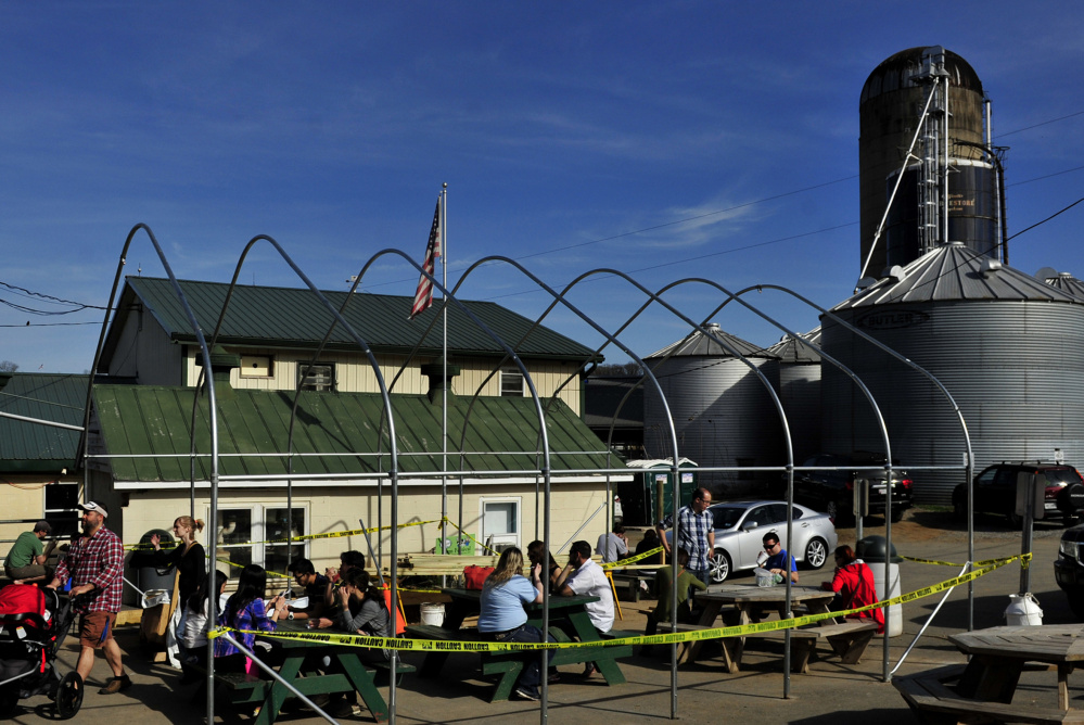 Locals and tourists can get fresh food and dairy products at the South Mountain Creamery store. Ice cream is the best seller. MUST CREDIT: Washington Post photo by Michael S. Williamson.