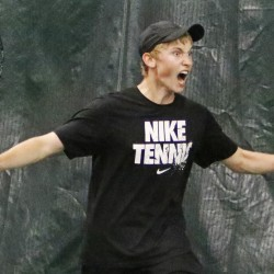 Nick Mathieu of Mt. Ararat received a strong challenege from Thornton Academy's Dariy Vykhodtsev in the state singles final but was up to the task, winning in three sets. Mathieu was also undefeated  in team play.