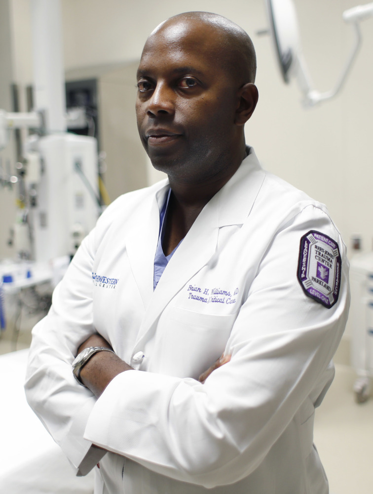 Dr. Brian H. Williams, a trauma surgeon at Parkland Memorial Hospital, treated some of the Dallas police officers shot Thursday night.