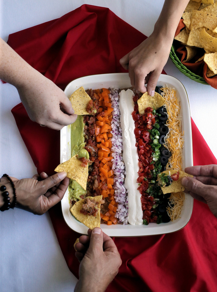 Garden in a Pan is a different take on seven-layer dip.