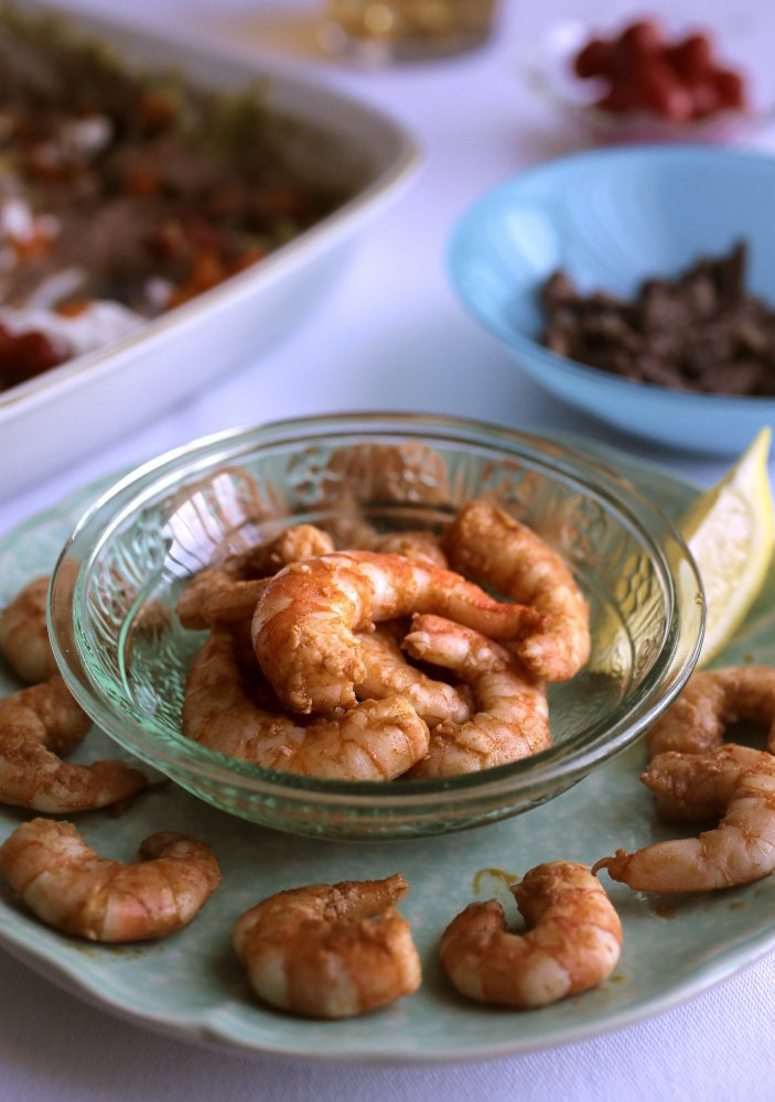 Spiced shrimp will deliver a kick to your potluck.   Cristina M. Fletes/St. Louis Post-Dispatch