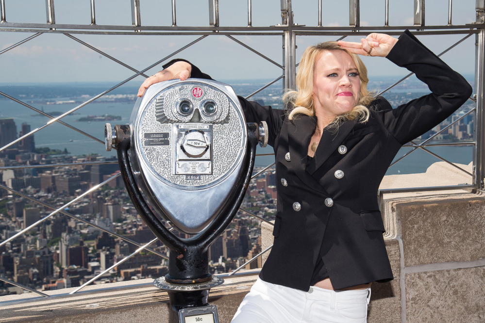 Actress and comedian Kate McKinnon at the Empire State Building last week.