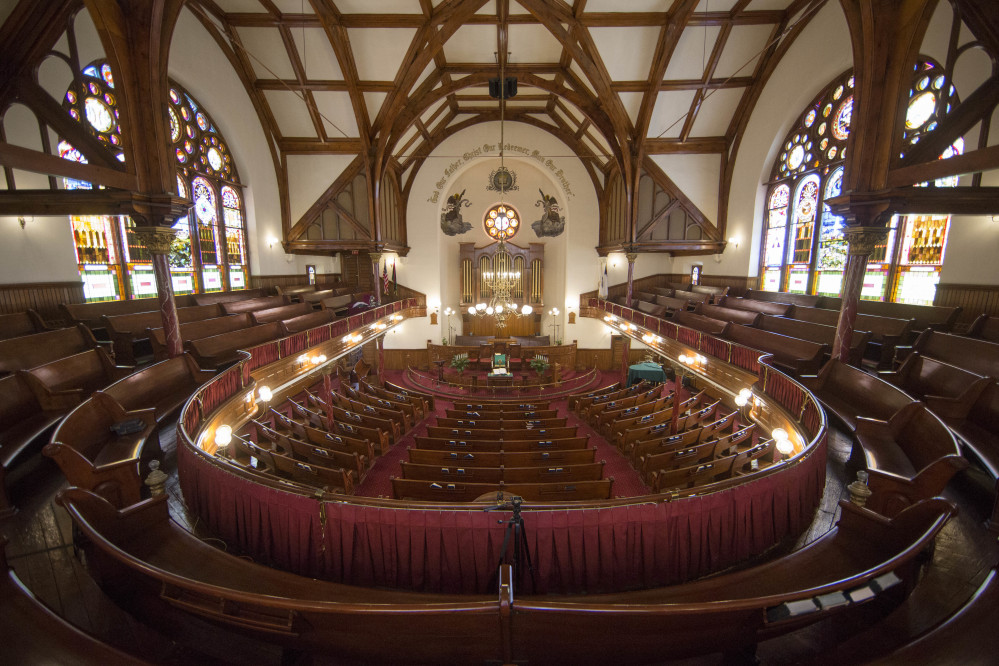 Shown is an interior view of Mother Bethel African Methodist Episcopal Church in Philadelphia, Wednesday, July 6, 2016. The church marks its 200th anniversary in the city where it was founded by a former slave. (AP Photo/Matt Rourke)