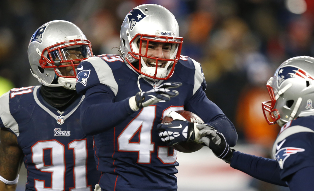 New England Patriots defensive back Nate Ebner makes his living as a football player, but he has been involved in rugby for much of his athletic career. He played on his high school rugby team before switching to football in college.