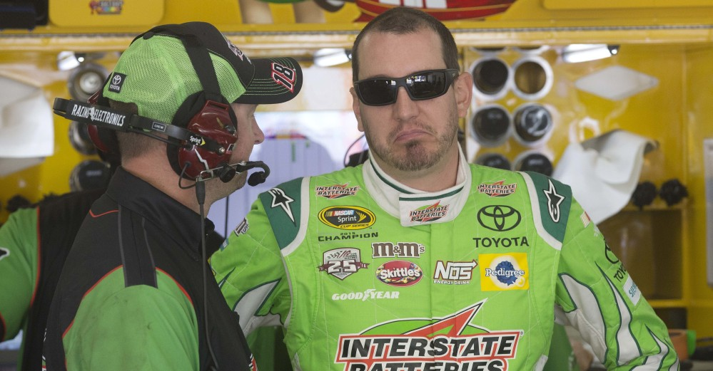 Kyle Busch, right, finished second in qualifying for Sunday's NASCAR Sprint Cup race at New Hampshire Motor Speedway in Loudon, New Hampshire. Busch won the New Hampshire race last July.