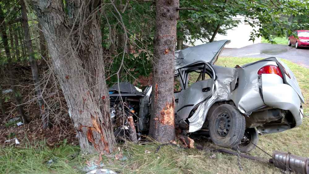 Two teenagers were killed in a single car crash on Route 15 in Glenburn Sunday morning.