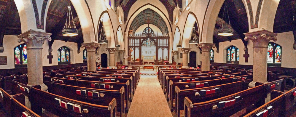 The interior of St. Mark's Episcopal Church in Augusta.