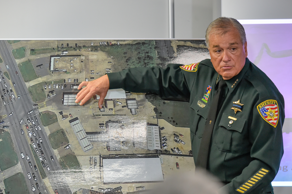 Sheriff Sid Gautreaux explains Gavin Long's attack on police during a news conference Monday on the shooting of six officers in Baton Rouge on Sunday morning.