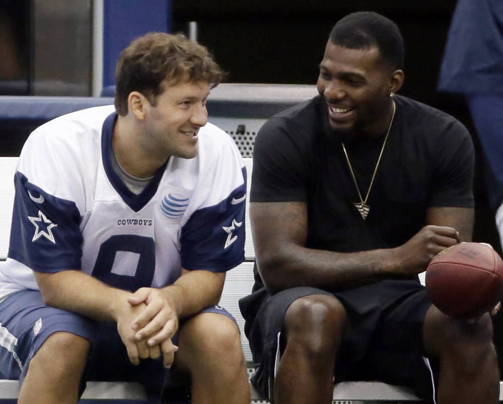 The Cowboys need quarterback Tony Romo, left, and receiver Dez Bryant on the field to be successful this season. Both missed time last year and the Cowboys floundered.