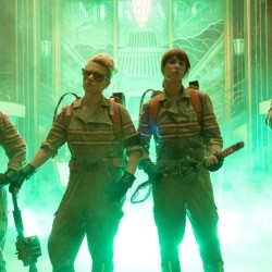"""From left, Melissa McCarthy, Kate McKinnon, Kristen Wiig and Leslie Jones appear in a scene from """"Ghostbusters."""" Hopper Stone/Columbia Pictures/Sony Pictures via AP"""