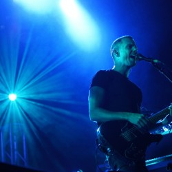 Anthony Gonzalez of M83 at the State Theatre Wednesday.