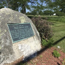 "A monument marks the spot on the town green in Lebanon, Conn., where French troops camped during the Revolutionary War. The milelong green has remained much as it was during the 18th century in part because of a court decision that gives ownership of the entire green to the ""heirs and assigns"" of 51 original deed holders."