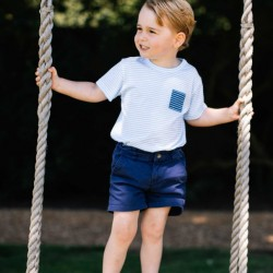 This photo of Britain's Prince George, 3, was released on his birthday Friday.