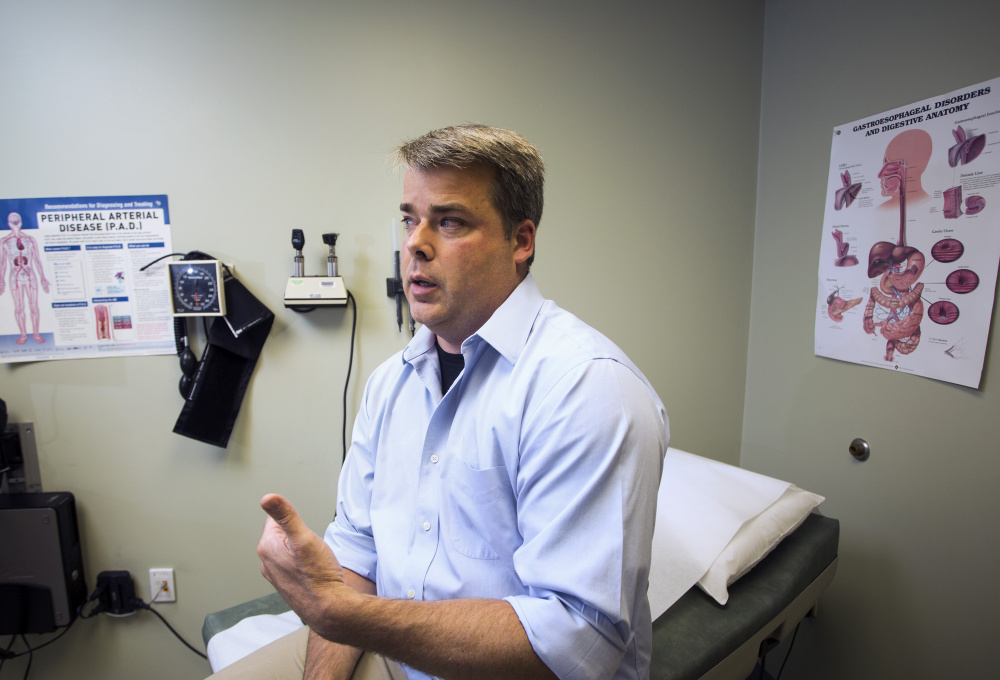 """Dr. Craig Smith of Bridgton says treating addicts with Suboxone has """"turned out to be the most gratifying part of the job."""""""