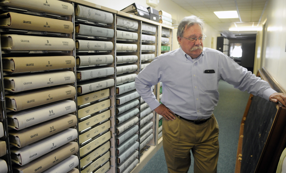 Kennebec County Administrator Robert Devlin at the Kennebec County Registry of Deeds in Augusta on Monday.