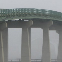 The Beals Island bridge, built in 1958, connects with the mainland at Jonesport. Classified as structurally deficient, it has deteriorating pier piles.