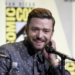 "A man was intoxicated when he ""inappropriately touched"" the face of Justin Timberlake, above, police say."
