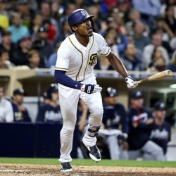 Melvin Upton Jr. entered Toronto as a member of the San Diego Padres, but now is with the Blue Jays after a trade Tuesday for minor league right-hander Hansel Rodriguez.