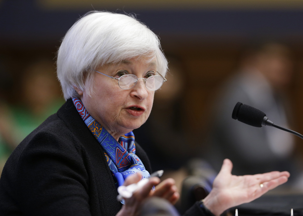 The Federal Reserve, led by Chair Janet Yellen, left interest rates unchanged Wednesday.