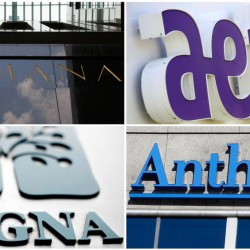 The Department of Justice has said that the mergers of Anthem and Cigna and of Aetna and Humana would hurt competition that restrains the price of health insurance coverage and reduce benefits, among other drawbacks.