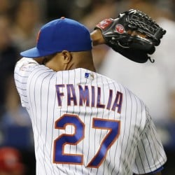 Relief pitcher Jeurys Familia of the New York Mets saw his streak of 52 saves come to an end in a 5-4 loss to St. Louis on Wednesday at New York.