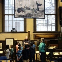 A group tours the New Bedford Whaling Museum in New Bedford, Mass., last year.