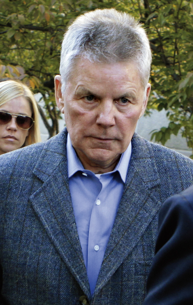 Former Calif. Rep. Gary Condit leaves District of Columbia Superior Court in Washington, Monday, Nov. 1, 2010,  after testifying in the trial of Ingmar Guandique, the man charged with the murder of Chandra Levy.