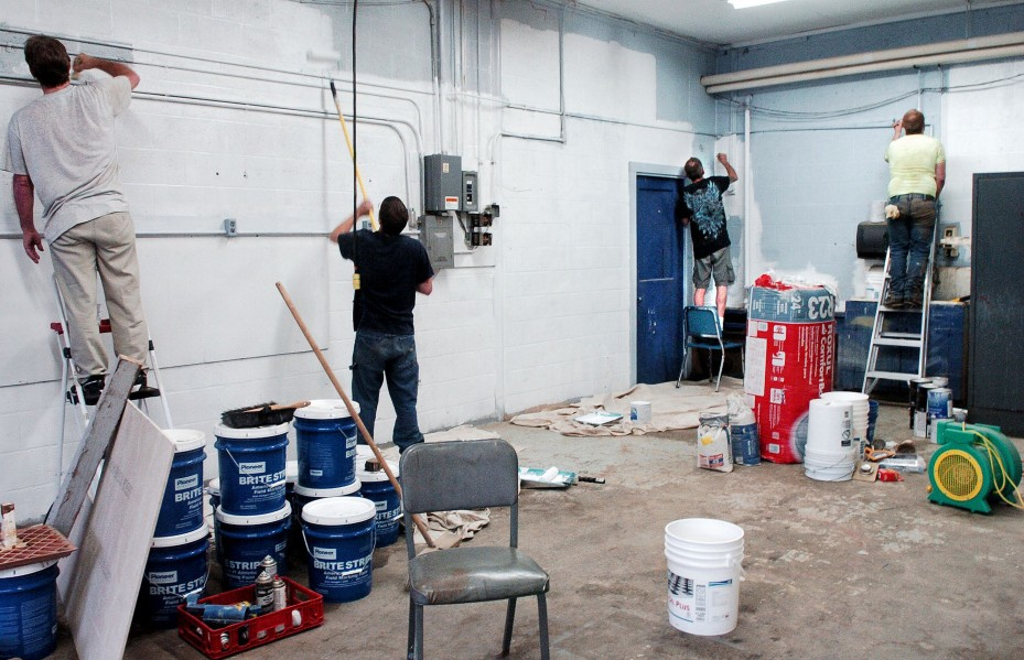 Participants in a new Somerset County community service program paint walls at Madison Junior High School on July 17. Somerset County is wise to move ahead with an initiative that deals nonviolent offenders in an innovative way.