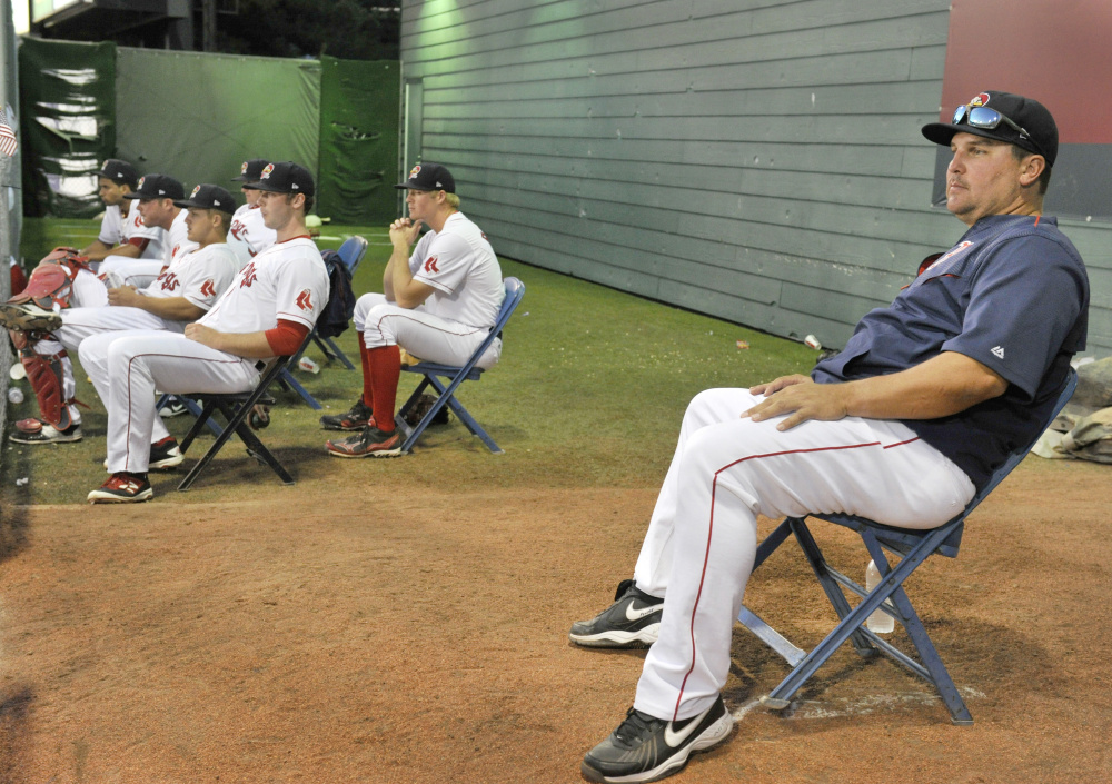 Keith Foulke, back working with the Boston Red Sox, has been to Hadlock Field twice this month to help Sea Dogs relief pitchers, and will return again in late August.