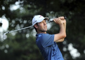 Robert Streb shot 63 Friday and its tied for the lead at 9-under par with Jimmy Walker at the PGA Championship at Baltusrol Golf Club in Springfield, New Jersey.